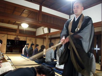 京都・勝林寺での座禅コン
