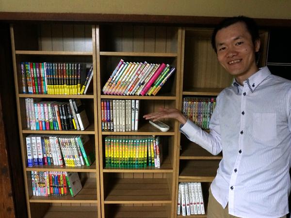 漫画図書館の本棚