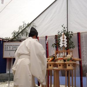 宿坊地鎮祭の祝詞