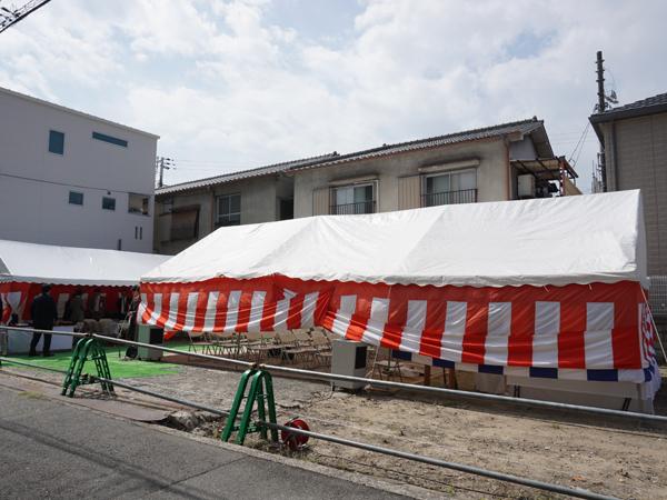 宿坊和空の建設予定地