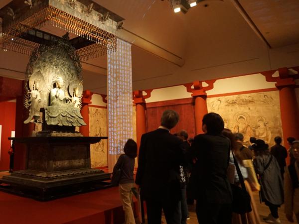 クローン文化財展の会場