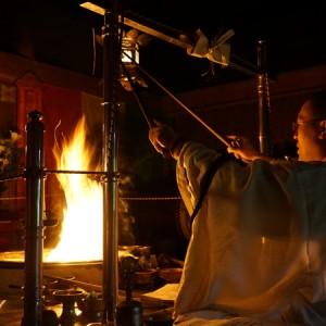 文殊仙寺の護摩祈祷