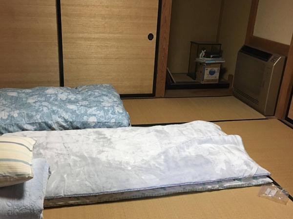 小野常寛さんが宿泊した部屋