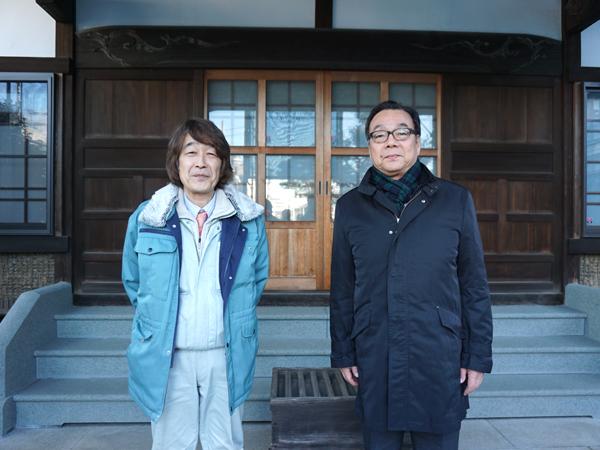 株式会社アンデン東京の遠藤守さんと、株式会社社寺建築社の外川譲児さん