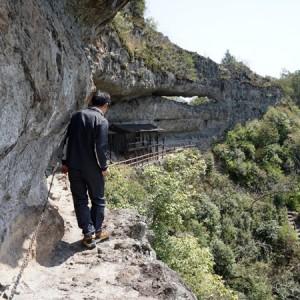 崖を歩く副住職
