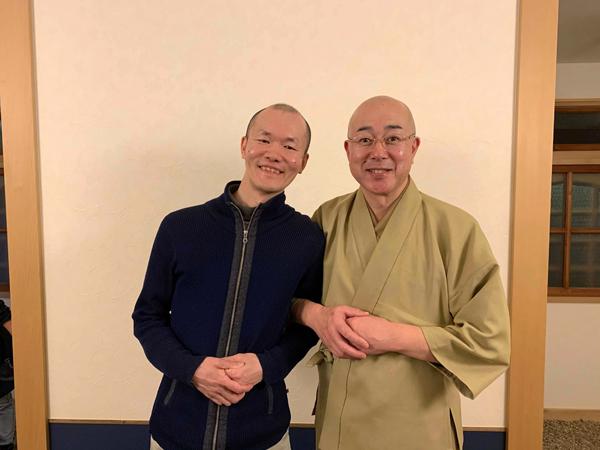 普賢院・菊池さんのお父さんとほーりー