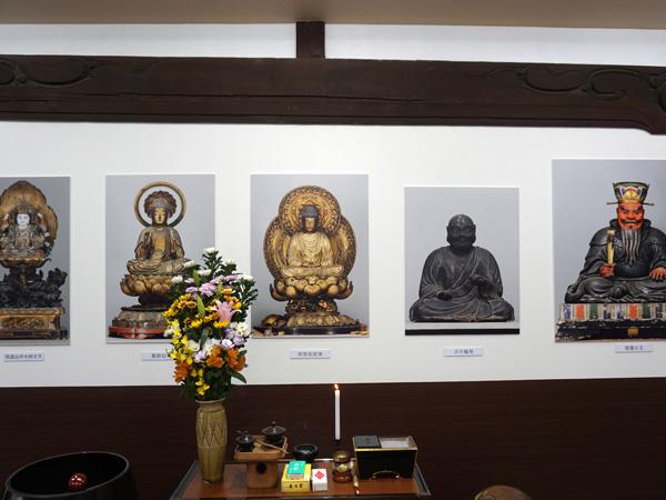 宝珠院の仏像パネル