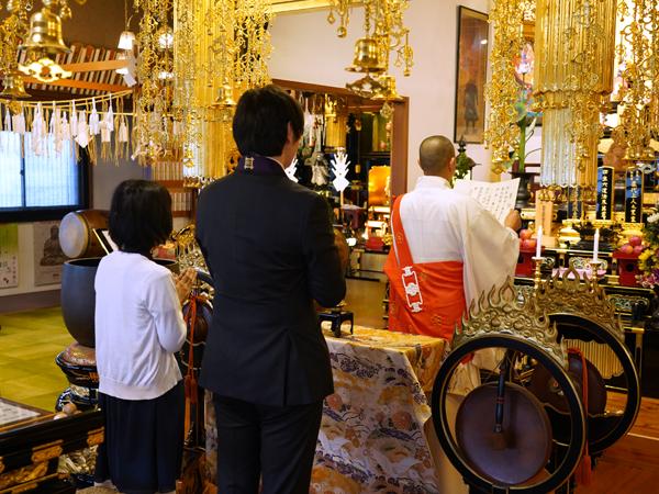 本光寺結婚式の奉告文拝読