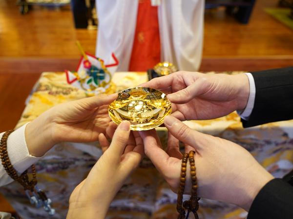 本光寺結婚式の三々九度