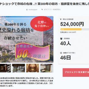 立本寺四神閣のクラウドファンディング